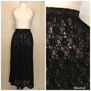 Vintage lace circle skirt